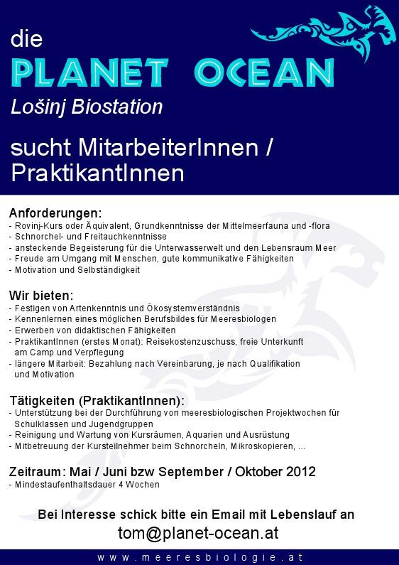 Mitarbeit und Praktikum an der Planet Ocean Biostation - Das Forum ...